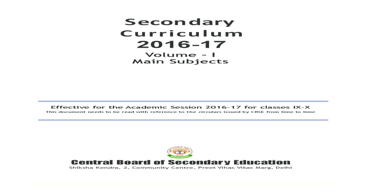 syllabus of ix-x main subjects (2016-17) - [PDF Document]