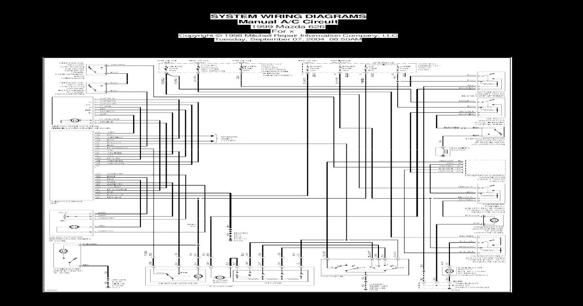 1999 mazda wiring diagram mazda 626 1999igram  pdf document   mazda 626 1999igram  pdf document