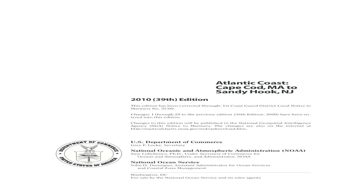 Coast Pilot 2 - 2010 Vers. - [PDF Document]