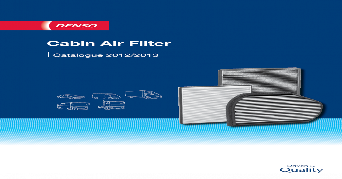 interior air DENSO DCF069K Filter