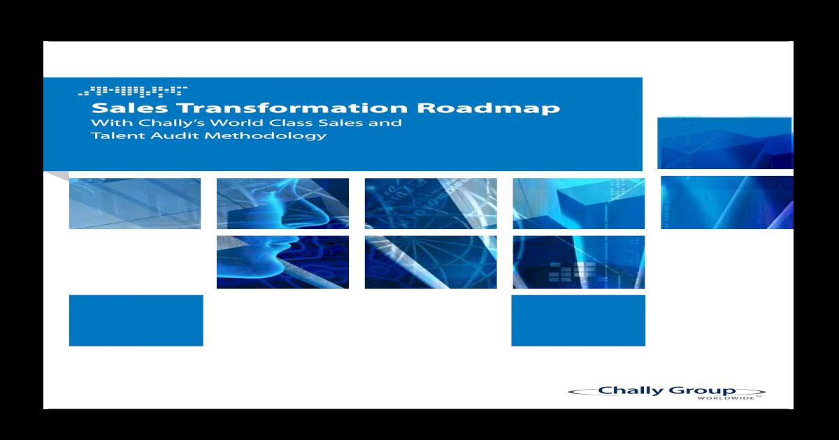 Sales Transformation Roadmap Pdf Document