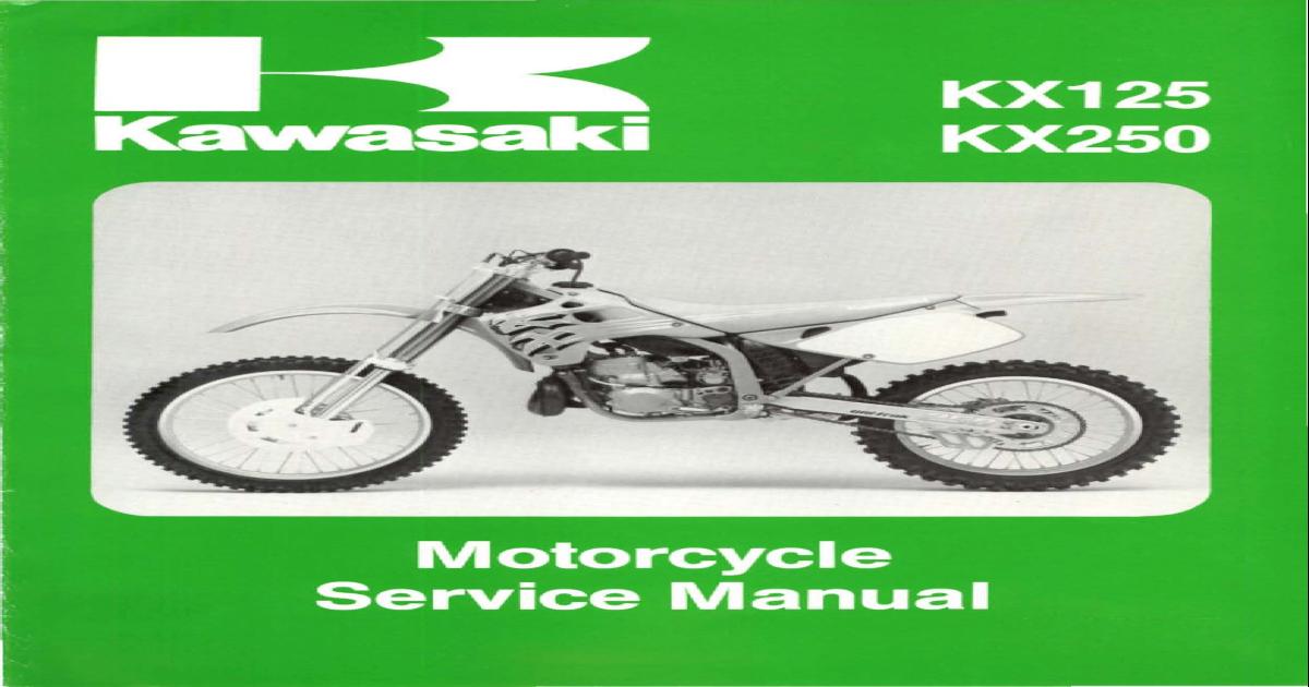 4187 Kawasaki Kx125 Kx250 Service Manual Repair 1992 1993 Pdf Document