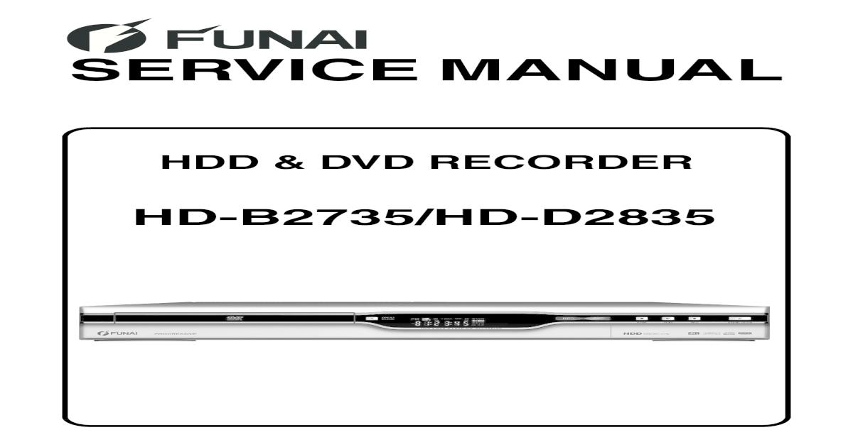 FUNAI HD-B2735_-D2835_(E2B21BD_24ED)_HDD+DVD Recorder sm