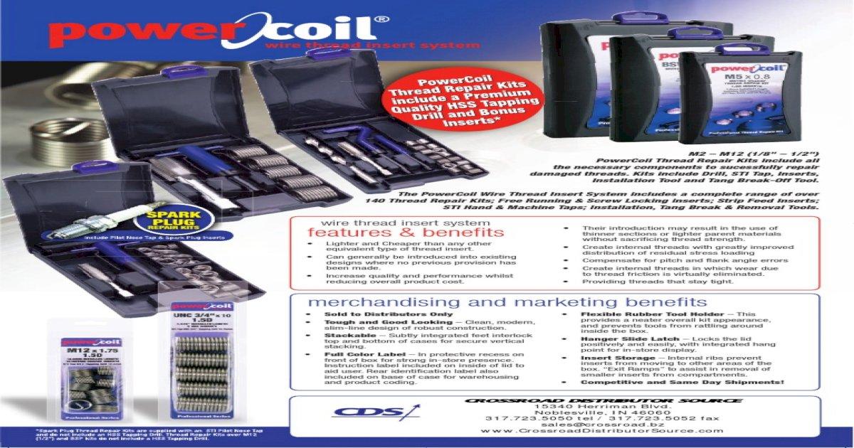 PowerCoil 3523-22.00K M22 x 1.5 Thread Repair Kit