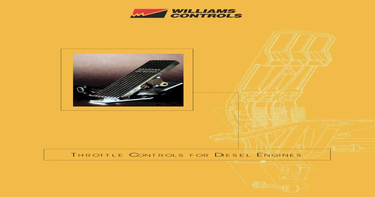 351313 REMOTE//AIR DDEC III+IV W//O IVS MFG by Williams Controls WM-526-351313