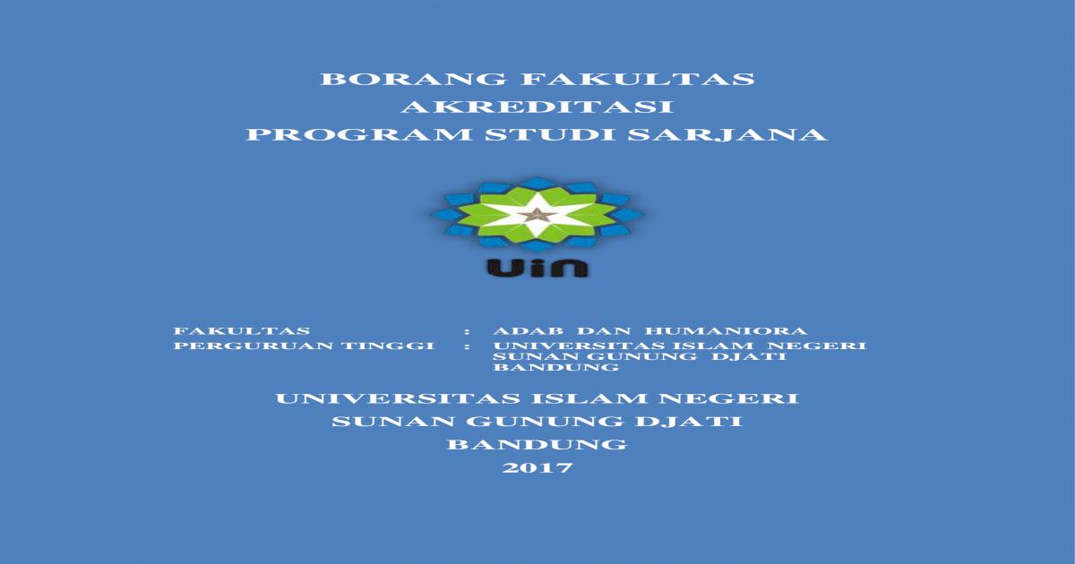 Borang Fakultas Akreditasi Program Fah Borang Akreditasi