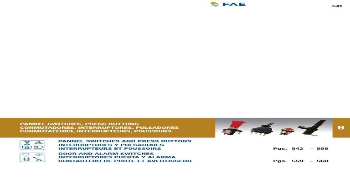 FAE 67330 Switch door contact