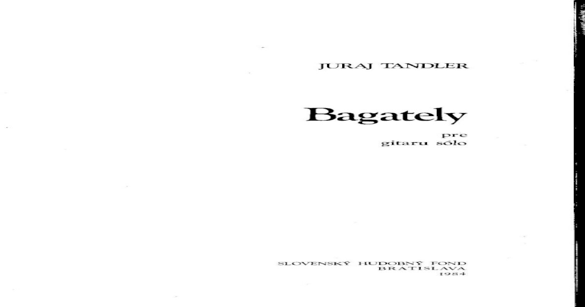 Tandler Juraj Bagately Pdf Document