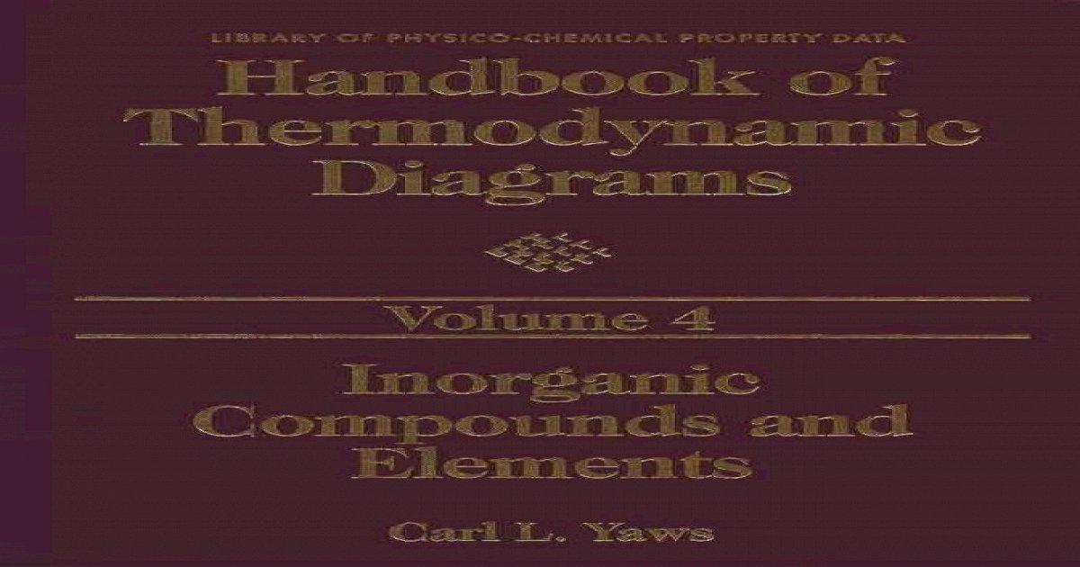 Handbook Of Thermodynamic Diagrams Volume4