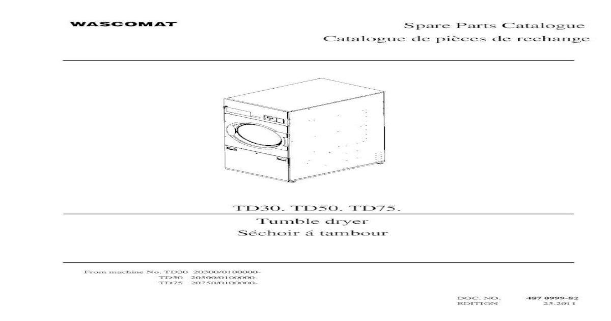 Wascomat Td75 Wiring Diagram