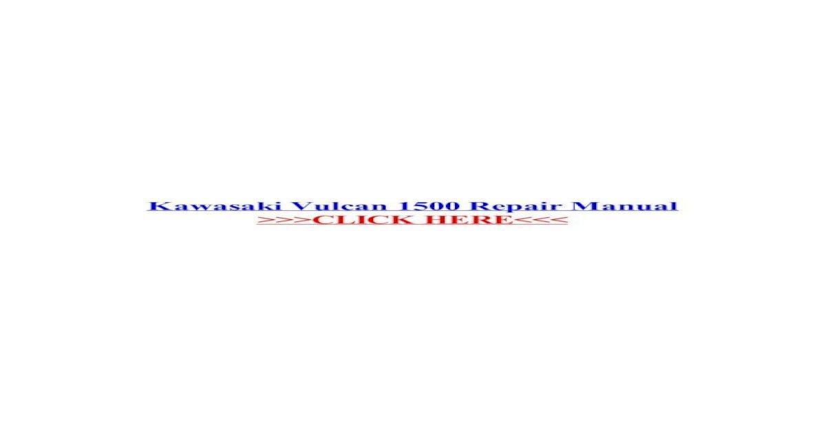 Kawasaki VN 1500 F CLASSIC 1999 Haynes Service Repair Manual 4913