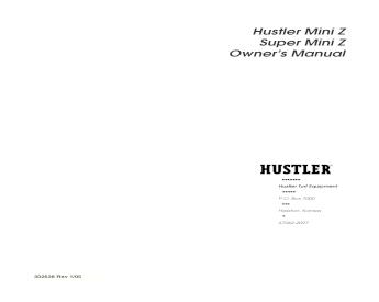 Hustler super z manuel